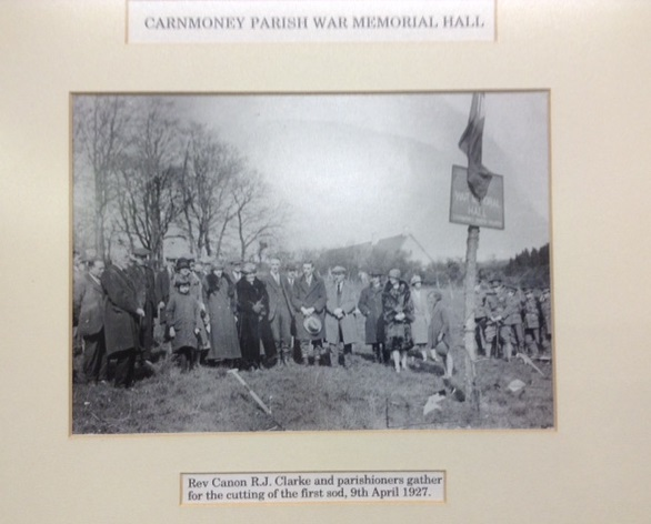 9th April 1927 Cutting the first sod Carnmoney Parish